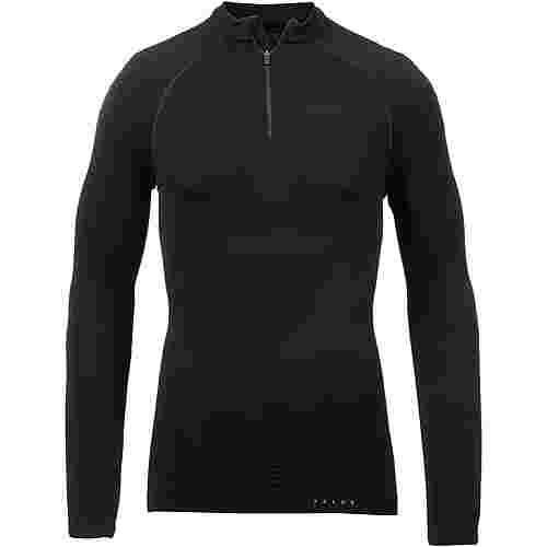 Falke Half Zip Unterhemd Herren black