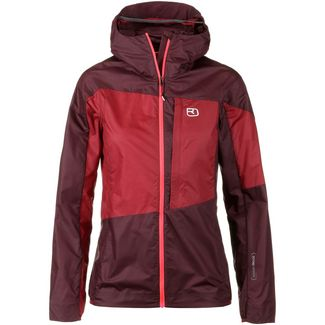 ORTOVOX Merino Windbreaker Damen dark wine