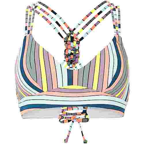 O'NEILL Wave Mix Bikini Oberteil Damen green aop-pink or purple
