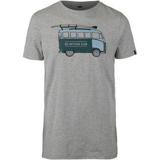 WLD Do Nothing Club T-Shirt Herren grey melange-bus green white