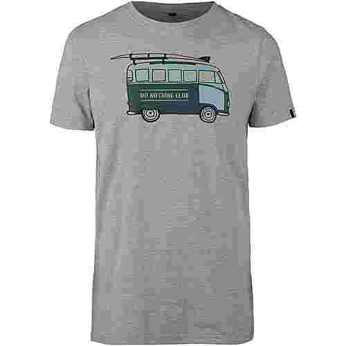 WLD Do Nothing Club T-Shirt Herren grey melange-bus green white