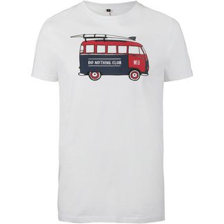 WLD Do Nothing Club T-Shirt Herren white-bus red blue