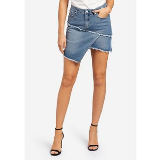 Khujo COCONUTA Jeansrock Damen jeansblau dunkel