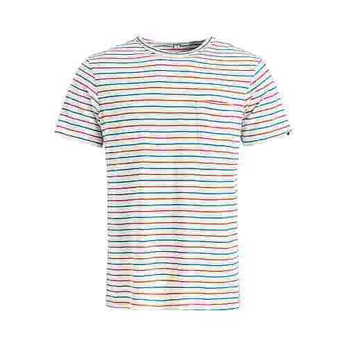 Khujo ALFONS STRIPES T-Shirt Herren weiß-blau
