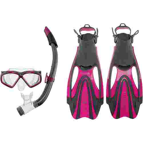 AQUA LUNG Set Hawkeye Schnorchelset dark pink-dark grey