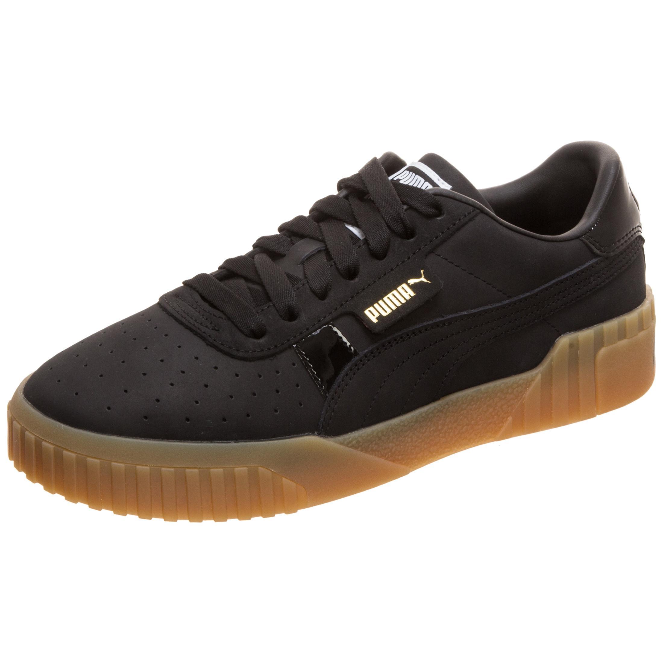 kinder innovatives Design Gratisversand PUMA Cali Nubuck Sneaker Damen schwarz / gold im Online Shop von  SportScheck kaufen