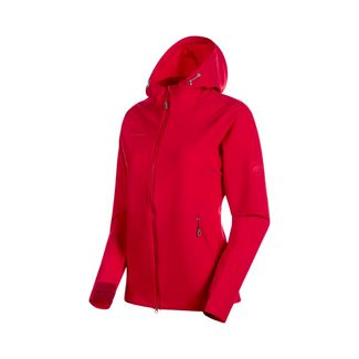 Mammut Macun SO Hooded Jacket Women Softshelljacke Damen ruby