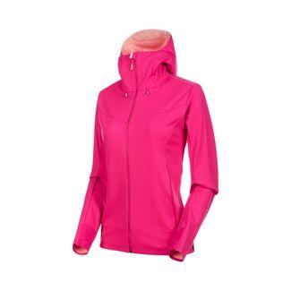 Mammut Ultimate V SO Hooded Jacket Women Softshelljacke Damen pink-candy melange