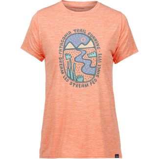 Patagonia Cap Cool Daily Graphic Funktionsshirt Damen dream led- peach sherbet x-dye