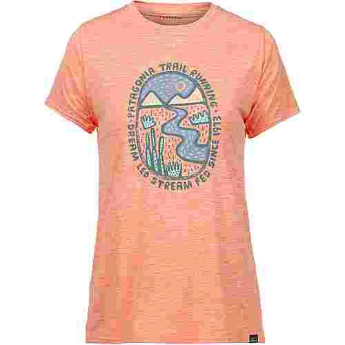 Patagonia Cap Cool Daily Graphic Funktionsshirt Damen dream led- peach sherbet x-dye
