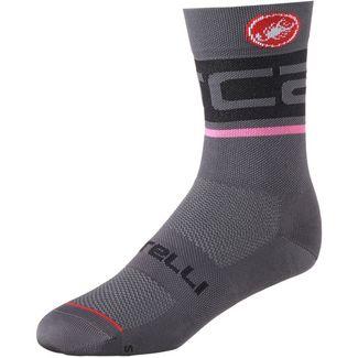 castelli FREE KIT 13 Fahrradsocken dark gray-pink