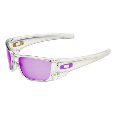 Oakley Fuel Cell Sonnenbrille Herren polished clear/violet iridium