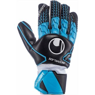 Uhlsport Soft HN Comp Torwarthandschuhe schwarz-skyblau-weiß