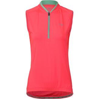 CMP Bike Sleeveless Shirt Fahrradtrikot Damen red fluo-aquamint