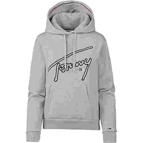Tommy Jeans Tommy Signature Hoodie Damen light grey heather
