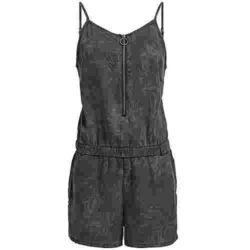 Khujo SHONA EASY JUNGLE AOP Jumpsuit Damen schwarz