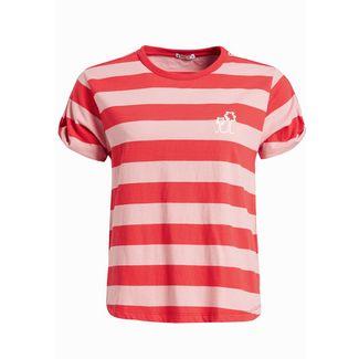 Khujo LUCIDA T-Shirt Damen rot rosa gestreift
