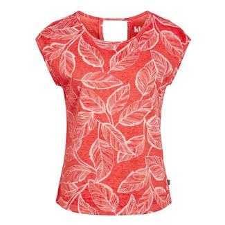 Khujo GABRISA PALM LEAVE T-Shirt Damen rot gemustert