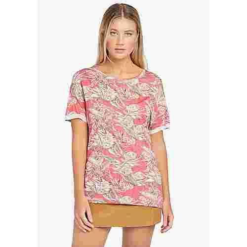 Khujo ORNATE PRINT T-Shirt Damen rosa gemustert