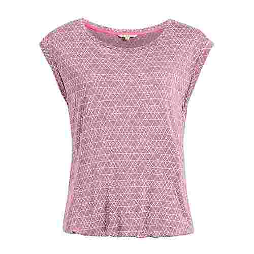 Khujo PIQUE PRINT T-Shirt Damen rosa