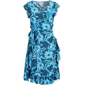 Khujo EMERY Kurzarmkleid Damen blau geblümt