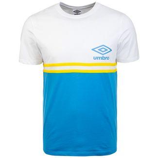 UMBRO Block Stripe T-Shirt Herren weiß / blau