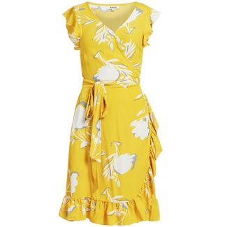 Khujo EMERY Kurzarmkleid Damen gelb gemustert