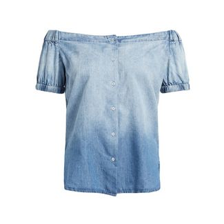 Khujo HENRIETTA Kurzarmbluse Damen blau