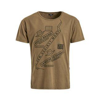 Khujo WILLI 80's OUTLINE T-Shirt Herren oliv