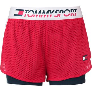 Tommy Sport Shorts Damen true red
