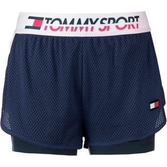 Tommy Sport Shorts Damen sport navy