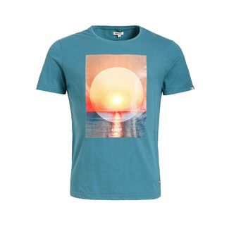 Khujo ALTON SUNSET T-Shirt Herren blau