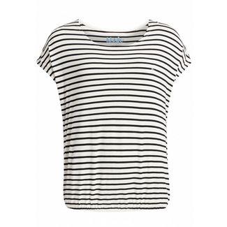 Khujo MELTANIA T-Shirt Damen schwarz-weiß gestreift