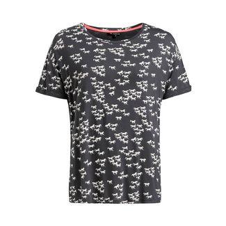 Khujo ORNATE PRINT T-Shirt Damen schwarz gemustert