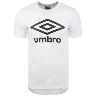 UMBRO Large Logo Funktionsshirt Herren weiß / schwarz
