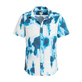 Khujo SINCO Kurzarmhemd Herren blau weiß gemustert