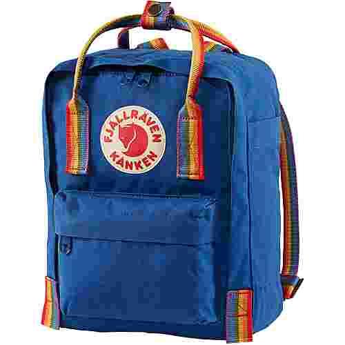 FJÄLLRÄVEN Rucksack Kånken Rainbow Mini Daypack deep blue-rainbow pattern