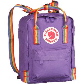 FJÄLLRÄVEN Rucksack Kånken Rainbow Mini Daypack purple-rainbow pattern