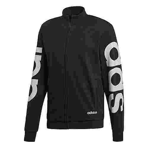 adidas Essentials Trainingsjacke Sweatjacke Herren Black / White