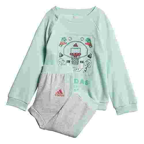 adidas French Terry Graphic Jogginganzug Trainingsanzug Kinder Clear Mint / Prism Pink
