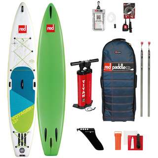 "Red Paddle VOYAGER+ SET 13'2"" x 30"" x 6"" SUP Board weiß-grün"