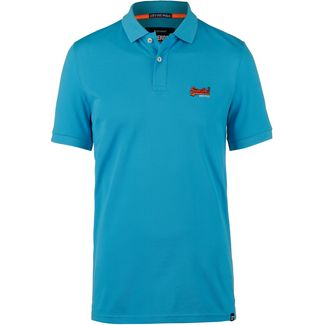 Superdry Mercerised Lite City Poloshirt Herren turquoise