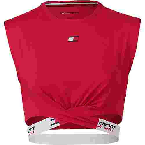 Tommy Sport Croptop Damen true red