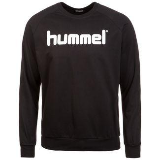 hummel Cotton Logo Sweatshirt Herren schwarz / weiß