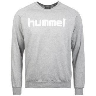 hummel Cotton Logo Sweatshirt Herren grau / weiß