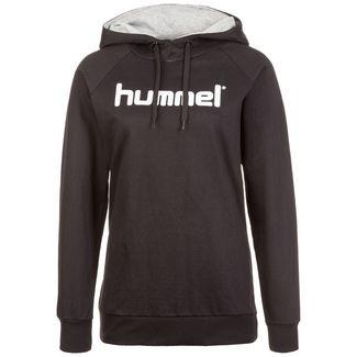 hummel Cotton Logo Hoodie Damen schwarz / weiß