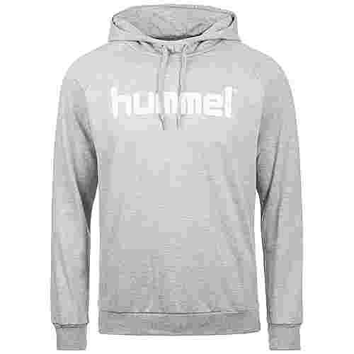 hummel Cotton Logo Kapuzenpullover Herren grau / weiß