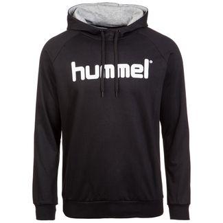 hummel Cotton Logo Hoodie Herren schwarz / weiß