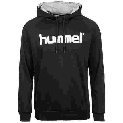 hummel Cotton Logo Kapuzenpullover Herren schwarz / weiß