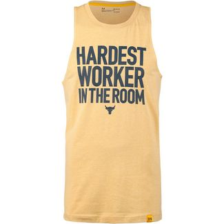 Under Armour PROJECT ROCK CUT OFF Funktionstank Herren yellow